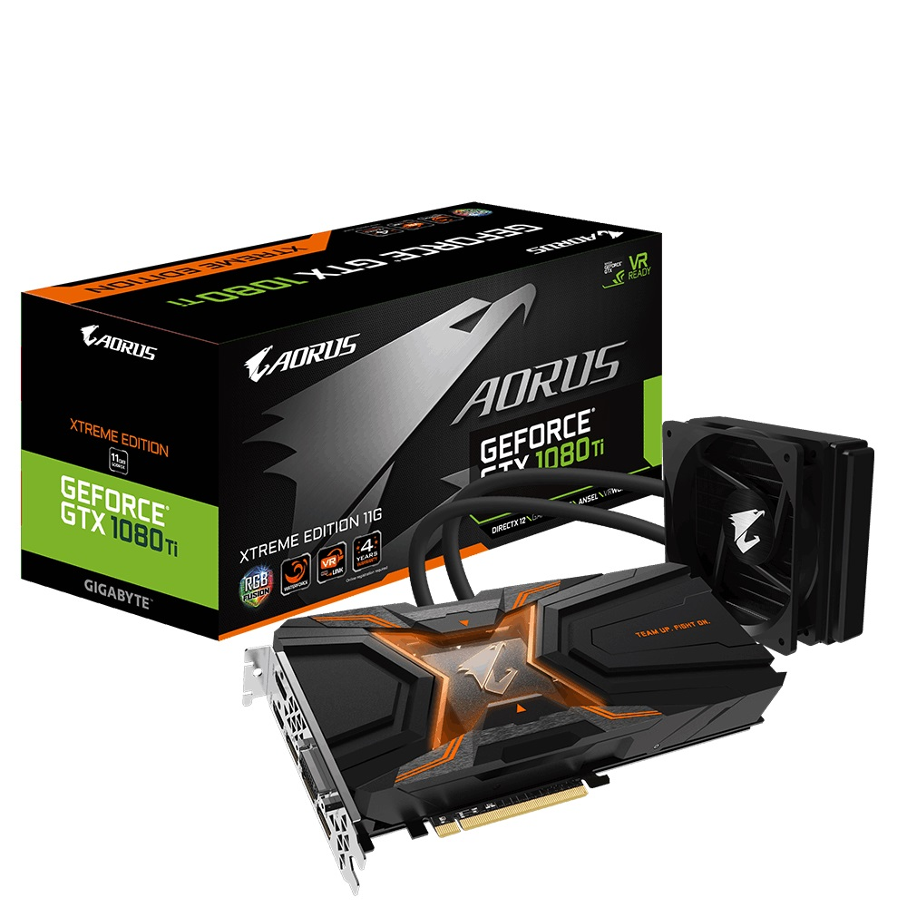 Видеокарта Gigabyte AORUS GTX 1080 Ti Waterforce Xtreme Edition 11G